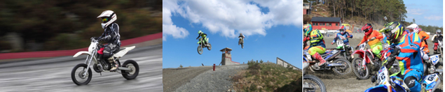bilder frå motocross aktivitet på Våge