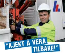 """Bilde av tilsett Reidar Haugland som uttalar """"Kjekt å vera tilbake"""""""